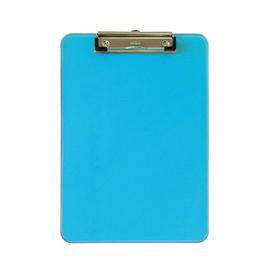 Klemmbrett mit Bügelklemme kurze Seite A4 transparent blau Kunststoff Maul 23406-31 Produktbild
