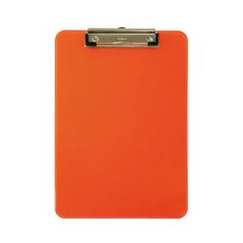 Klemmbrett mit Bügelklemme kurze Seite A4 transparent orange Kunststoff Maul 23406-41 Produktbild