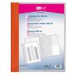 Schnellhefter Veloform Vorderdeckel transparent mit Innentasche A4 überbreit orange PVC Veloflex 4741030 Produktbild