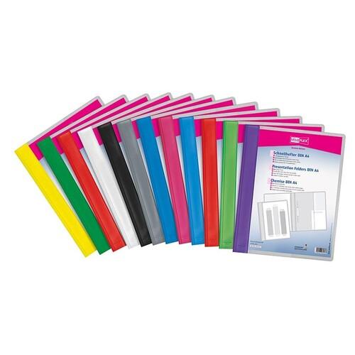 Schnellhefter Veloform Vorderdeckel transparent mit Innentasche A4 überbreit pink PVC Veloflex 4741070 Produktbild Additional View 1 L