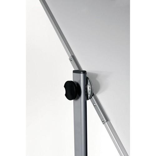 Mobile Stativ-Drehtafel ECONOMY 100x150cm weiß beidseitig lackiert Legamaster 7-103663 Produktbild Additional View 2 L