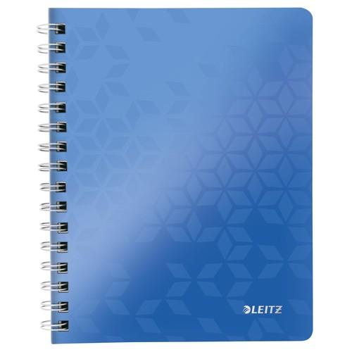 Collegeblock WOW A5 kariert blau metallic Leitz 4641-00-36 Produktbild Front View L