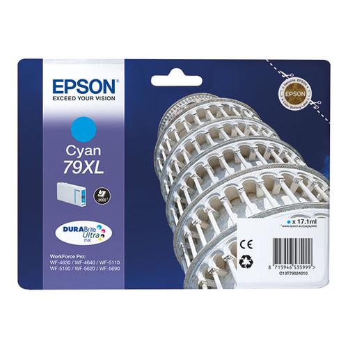 Tintenpatrone 79XL für Epson Stylus WorkForce Pro WF4600 17,1ml cyan Epson T790240 Produktbild Front View L