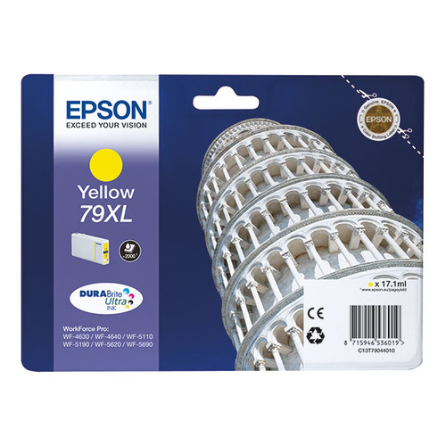 Tintenpatrone 79XL für Epson Stylus WorkForce Pro WF4600 17,1ml yellow Epson T790440 Produktbild Front View L