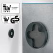 Glas-Magnetboard artverum 120x780x15mm petrolblau inkl. Magnete Sigel GL250 Produktbild Additional View 1 S