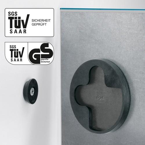 Glas-Magnetboard artverum 120x780x15mm petrolblau inkl. Magnete Sigel GL250 Produktbild Additional View 1 L