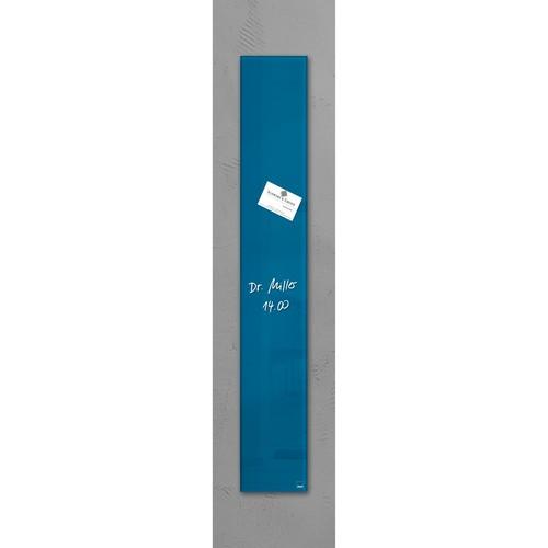 Glas-Magnetboard artverum 120x780x15mm petrolblau inkl. Magnete Sigel GL250 Produktbild