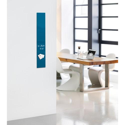 Glas-Magnetboard artverum 120x780x15mm petrolblau inkl. Magnete Sigel GL250 Produktbild Additional View 5 L