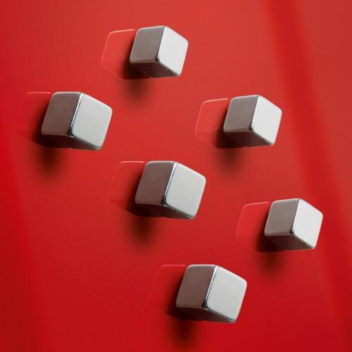 SuperDym-Magnet-Cube C5 artverum Cube-Design 10x10x10mm silber vernickelt stark Sigel GL192 (PACK=6 STÜCK) Produktbild Additional View 3 L
