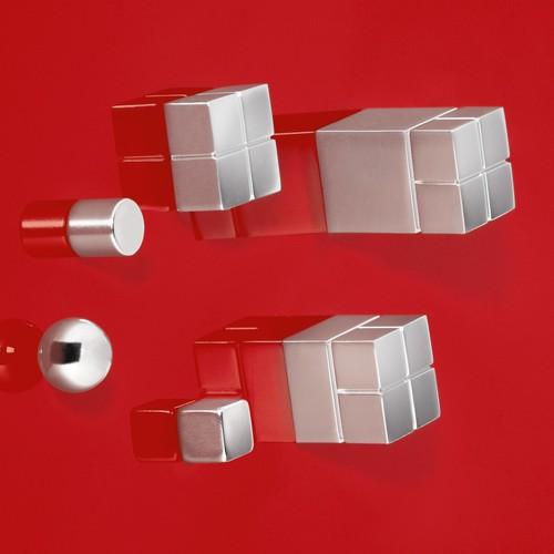 SuperDym-Magnet-Cube C5 artverum Cube-Design 10x10x10mm silber vernickelt stark Sigel GL192 (PACK=6 STÜCK) Produktbild Additional View 4 L