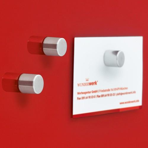 SuperDym-Magnet-Zylinder C5 artverum Zylinder Ø 10x10mm silber vernickelt stark Sigel GL700 (PACK=5 STÜCK) Produktbild Additional View 2 L