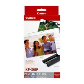 Tintenpatrone KP36IP + Papier für Card Photo Printer CP100/200 36ml und 36Blatt farbig Canon 7737A001 Produktbild