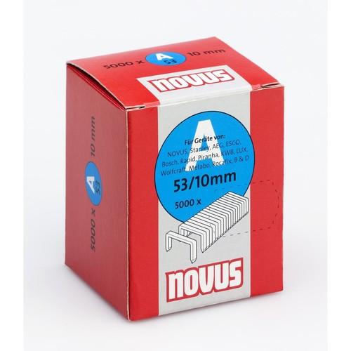 Heftklammern 53/10 Novus 042-0518 (PACK=5000 STÜCK) Produktbild Front View L