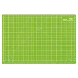 Schneidematte COMFORTLINE 45x30cm apfelgrün mit weißer Rastereinteilung Wedo 79245 Produktbild