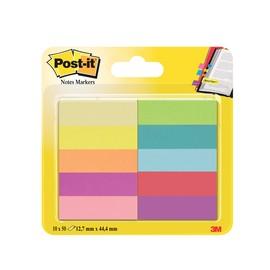 Haftstreifen Post-it Page Marker 12,7x44,4mm 5 Neonfarben Papier 3M 670-10AB (PACK=10x 50 STÜCK) Produktbild