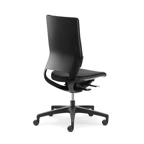 Drehstuhl BASIC Mera98 ohne Armlehnen Farbe schwarz YN009 Produktbild Front View L