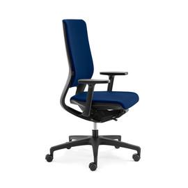 Drehstuhl STANDARD Mera98 mit Armlehnen ohne Kopfstütze Farbe 475 chicago blau Klöber Produktbild