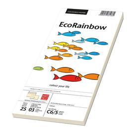 Briefumschlag RAINBOW mit Fenster 114x229mm mit Haftklebung 80g hellchamois (PACK=250 STÜCK) Produktbild