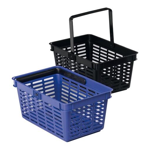 Einkaufskorb mit Tragegriff Shopping Basket 19 448x212x283mm 19Liter blau Kunststoff Durable 1801565040 Produktbild Front View L