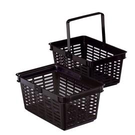 Einkaufskorb mit Tragegriff Shopping Basket 19 448x212x283mm 19Liter schwarz Kunststoff Durable 1801565060 Produktbild