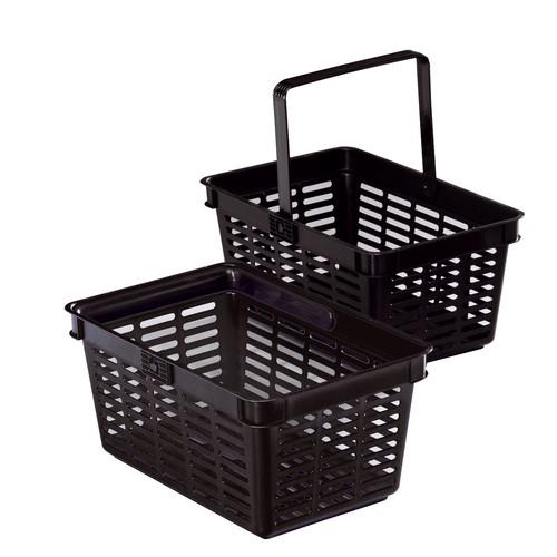 Einkaufskorb mit Tragegriff Shopping Basket 19 448x212x283mm 19Liter schwarz Kunststoff Durable 1801565060 Produktbild Front View L