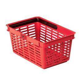 Einkaufskorb mit Tragegriff Shopping Basket 19 448x212x283mm 19Liter rot Kunststoff Durable 1801565080 Produktbild