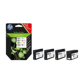 Tintenpatrone 950XL/951XL Multipack für OfficeJet 8100 2300Seiten schwarz + je 1500S. cyan+magenta+yellow HP C2P43AE (ST=4 STÜCK) Produktbild
