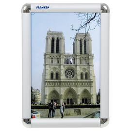 Bilderwechselrahmen A4 23,9x32,6x1,2cm silber Aluminium Franken BS0701 Produktbild