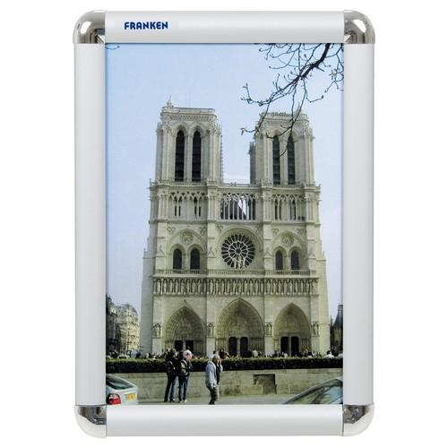 Bilderwechselrahmen A4 23,9x32,6x1,2cm silber Aluminium Franken BS0701 Produktbild Front View L