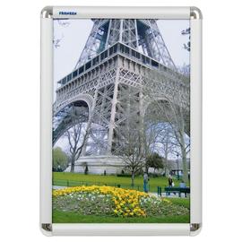 Bilderwechselrahmen mit Klemmprofil- technik 32,6x44,9x1,2cm silber Aluminium Franken BS0702 Produktbild