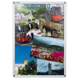 Bilderwechselrahmen mit Klemmprofil- technik 62,3x87x1,2cm silber Aluminium Franken BS0704 Produktbild