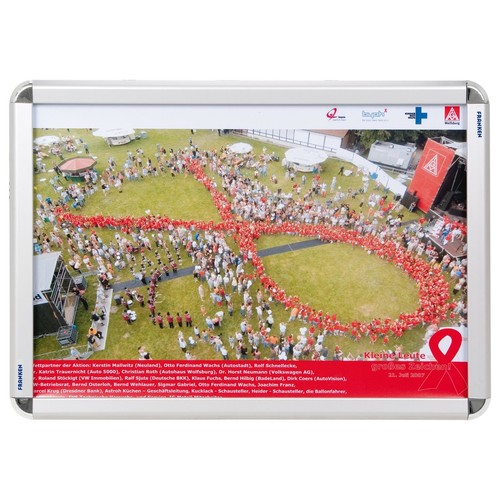 Bilderwechselrahmen A2 46,2x63,6x1,9cm silber Aluminium Franken BS0801 Produktbild Front View L
