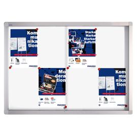Schaukasten PRO für Innenbereich 8xA4 mit Schiebetüren 95x68x4,6cm Metall- Rückwand magnetisch Franken SK6108 Produktbild