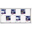 Schaukasten PRO für Innenbereich 12xA4 mit Schiebetüren 139x68x4,6cm Metall- Rückwand magnetisch Franken SK6112 Produktbild