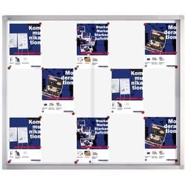 Schaukasten PRO für Innenbereich 15xA4 mit Schiebetüren 117,5x99x4,6cm Metall- Rückwand magnetisch Franken SK6115 Produktbild