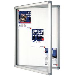 Schaukasten ECO für Außenbereich 12xA4 mit Flügeltüren 104x96x4,5cm Metall- Rückwand magnetisch Franken SK12SE Produktbild