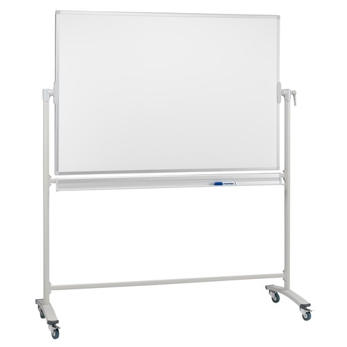 Mobile Stativ-Drehtafel 150x100cm weiß beidseitig lackiert Franken STC202 Produktbild Front View L