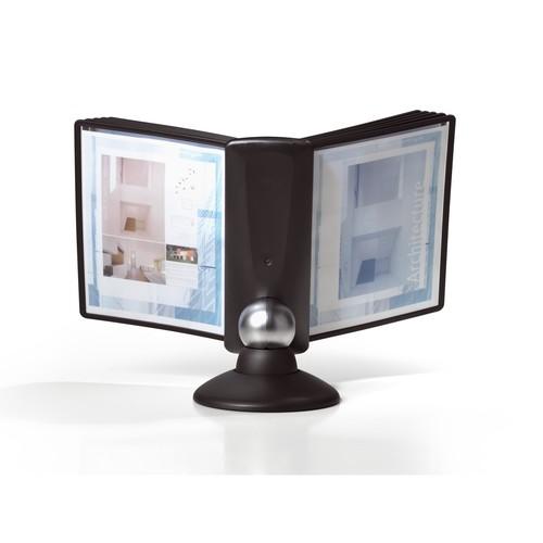 Sichttafelständer SHERPA MOTION 10 mit 10 Sichttafeln 5606 + Reiter schwarz drehbar Durable 5587-01 Produktbild Additional View 1 L
