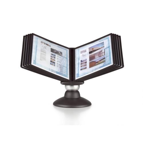 Sichttafelständer SHERPA MOTION 10 mit 10 Sichttafeln 5606 + Reiter schwarz drehbar Durable 5587-01 Produktbild Additional View 3 L