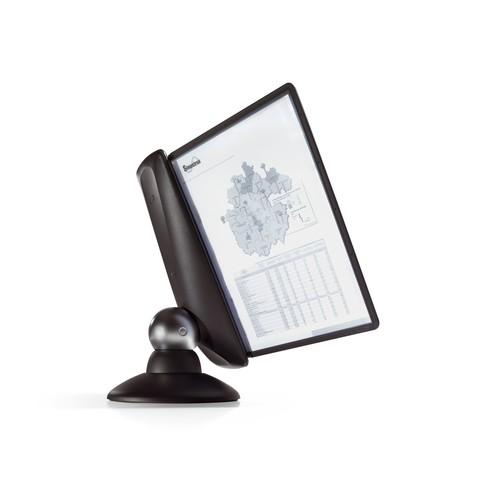 Sichttafelständer SHERPA MOTION 10 mit 10 Sichttafeln 5606 + Reiter schwarz drehbar Durable 5587-01 Produktbild Additional View 4 L