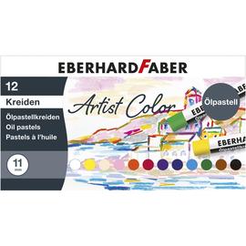 Öl-Pastellkreiden Kartonetui farbig sortiert Eberhard Faber 522012 (ETUI=12 STÜCK) Produktbild