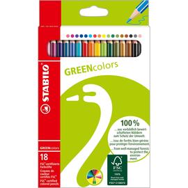 Farbstifte GREENcolors sortiert Stabilo 6019/2-181 (PACK=18 STÜCK) Produktbild