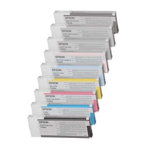 Tintenpatrone T6065 für Epson Stylus Pro 4800 220ml cyan hell Epson T606500 Produktbild Front View L
