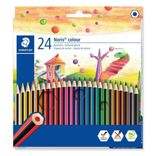 Farbstifte Noris Colour sechskant Kartonetui sortiert Staedtler 185C24 (ETUI=24 STÜCK) Produktbild