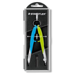 Zirkel Comfort einfach mit Drehrad neon-blau/neon-grün Staedtler 55600-N1 Produktbild