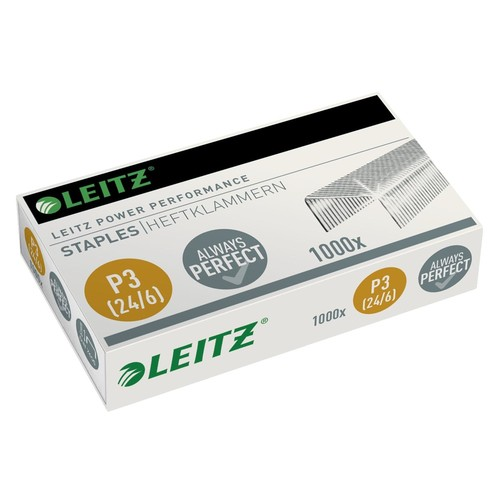 Heftklammern 24/6 Stahl verzinkt Leitz 5570-00-00 (PACK=1000 STÜCK) Produktbild Front View L