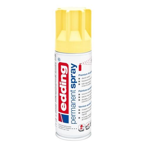 Permanent Spray 5200 200ml pastellgelb seidenmatt Edding 4-5200915 Produktbild Front View L