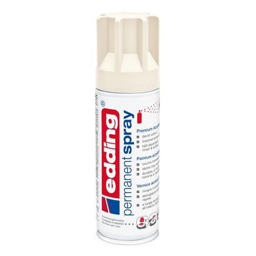 Permanent Spray 5200 200ml cremeweiß seidenmatt Edding 4-5200921 Produktbild Front View L