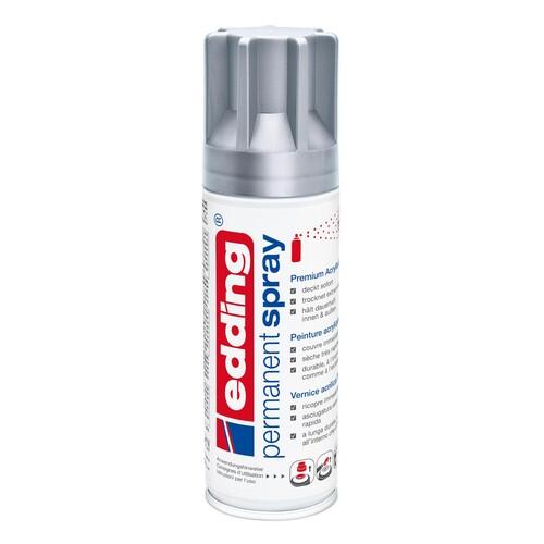 Permanent Spray 5200 200ml silber seidenmatt Edding 4-5200923 Produktbild Front View L