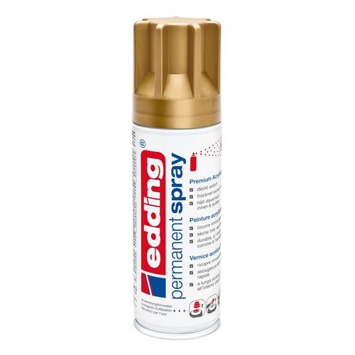 Permanent Spray 5200 200ml reichgold seidenmatt Edding 4-5200924 Produktbild Front View L